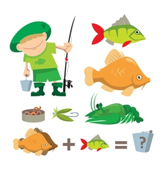 Fisherman trophy vector