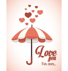 Umbrella design over pink background vector