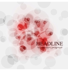 Red tech circles bright background vector