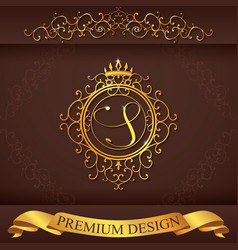Letter s luxury logo template flourishes vector