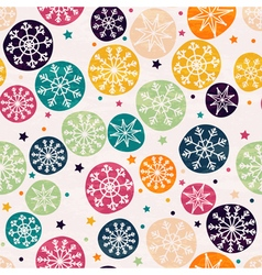 Seamless pattern with multicolored snowflakes vector