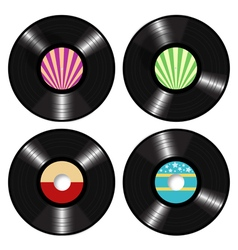 Lp Vinyl Records vector image