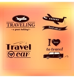 Travel logo and label set typography design vector