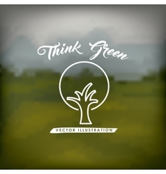 Think green design vector