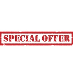 Special offer stamp vector image