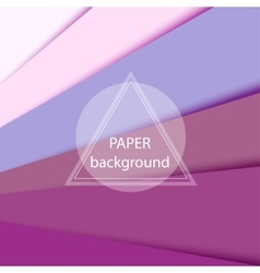 Abstract background with pink paper sheets vector