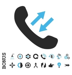 Phone talking flat icon with bonus vector