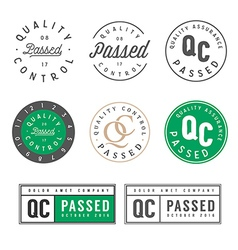 Quality control passed stamps and stickers vector image