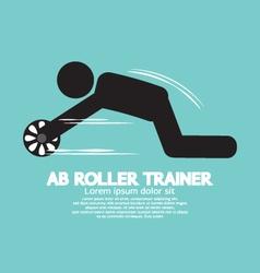 Ab roller trainer symbol vector