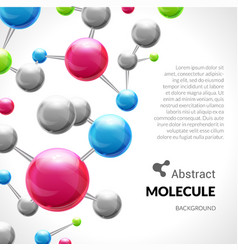 Abstract molecule 3d background vector image