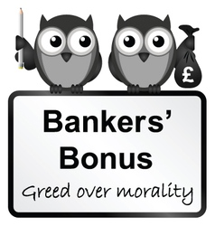 Bankers bonuses vector