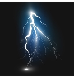 Best realistic lightning sign vector image