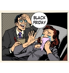 Black friday women and men vector