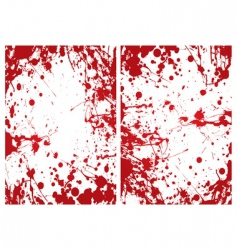 blood splat frame vector image