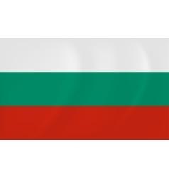 Bulgaria waving flag vector