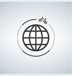 Bycicle around the world vector