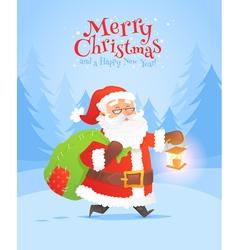 christmas characters cards santa 3 vector image