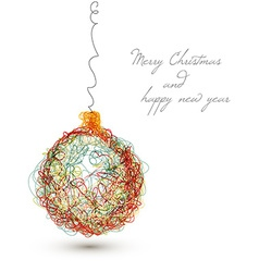 christmas decoration - continuous line drawing vector image vector image