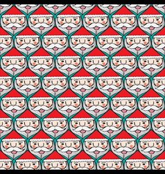 Christmas santa claus faces seamless pattern vector image vector image