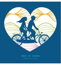 colorful horizontal ogee couple on tandem vector image vector image