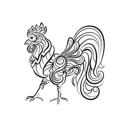 Decorative cock vector image vector image