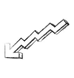 decreasing arrow business vector image