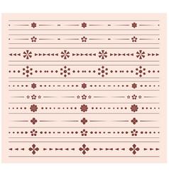 Geometric dividers - set of ornaments vector