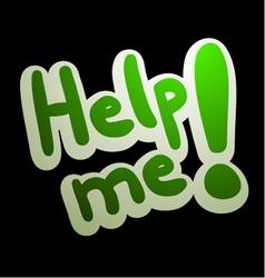 Help me message vector
