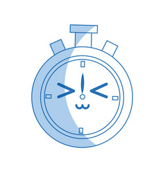 Kawaii chronometer clock stopwatch timer speed vector