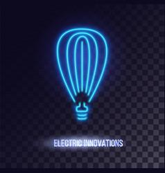 Light blue neon light icon vector