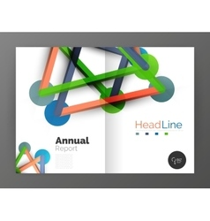 Lines and circles modern abstract business annual vector