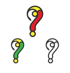 Logo Template Set Question Mark Logotype vector image