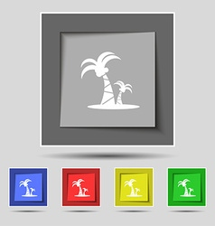 paml icon sign on original five colored buttons vector image