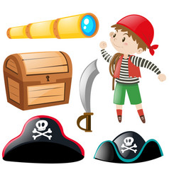 Pirate and other elements vector