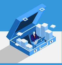 private office concept in flat vector image vector image