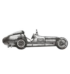 racing car logo design template transport vector image