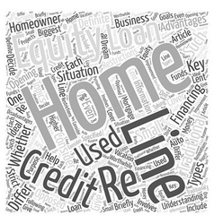 Re financing with a line of credit loan word cloud vector