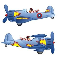 Retro airplanes vector
