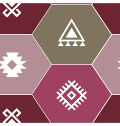 seamless background with Persian ethnic symbols vector image vector image