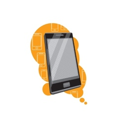 Smartphone with prospect on stylish background vector
