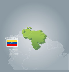 venezuela information map vector image
