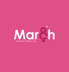 March typographical design elements international vector