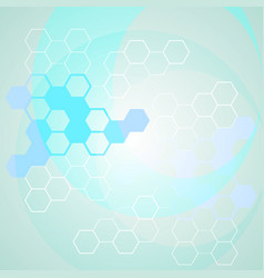 Abstract science background with molecule chains vector