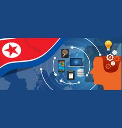North korea or democratic people s republic of vector