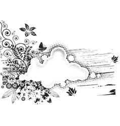 Grunge Floral vector image