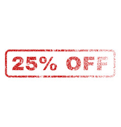 25 percent off rubber stamp vector