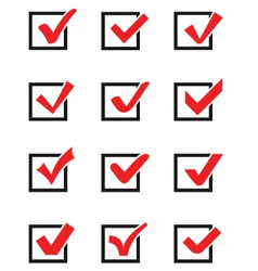 Check mark icons vector image