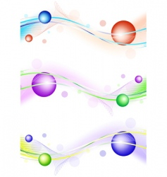 wavy template design vector image