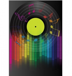 music party background vector image