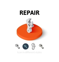 Repair icon in different style vector